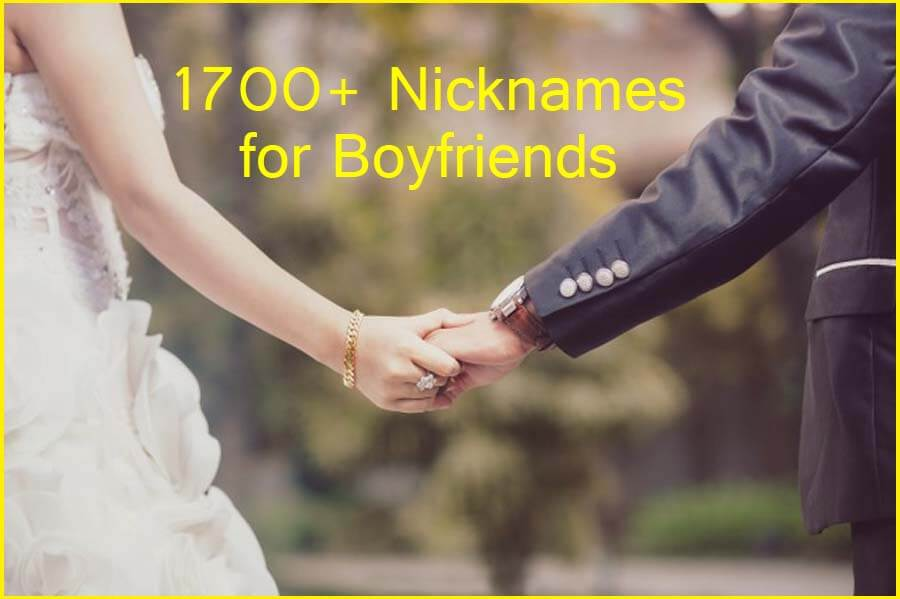 1700+ Nicknames for Boyfriends